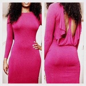 Sexy Deep Pink Midi Dress from ASOS